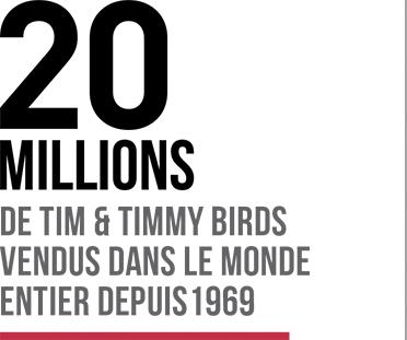 20 millions de Tim et Timmy Bird vendus dans le monde
