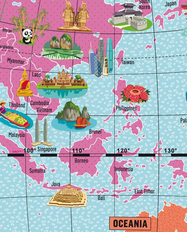 Caly Globe Maxi42 marvels of the world