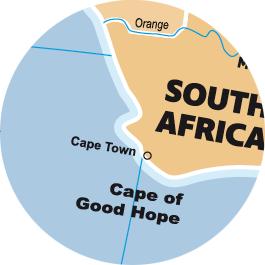 Caly Globe Maxi42 political world